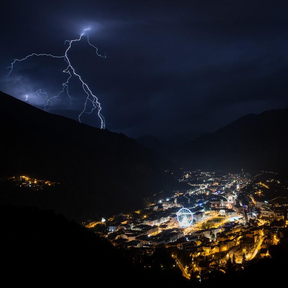 Tormenta eléctrica sobre Escaldes