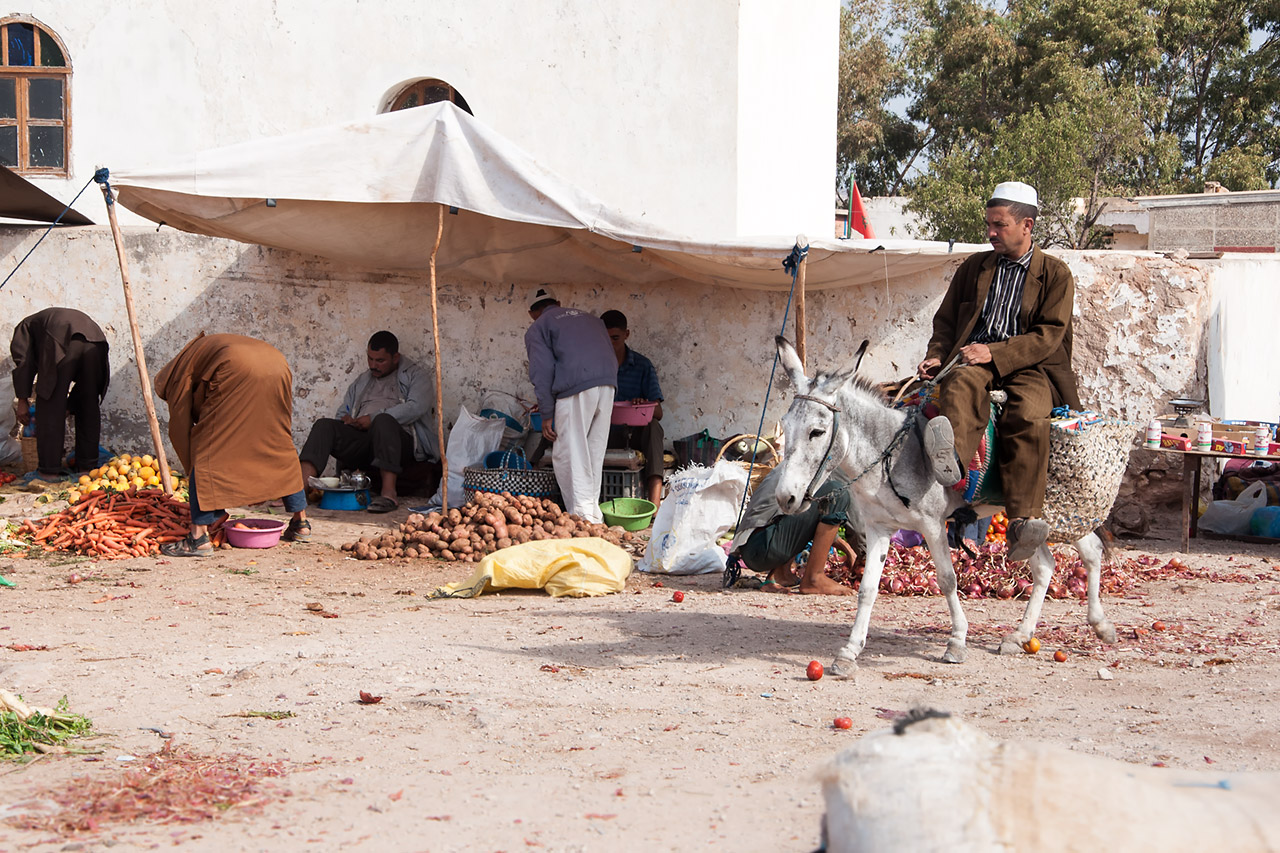 Mercado bereber de Ida Ougourd, Marruecos