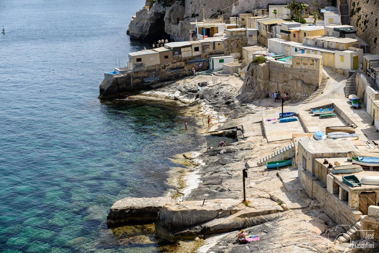 Playas de Valletta vistas desde Fuerte St. Elmo