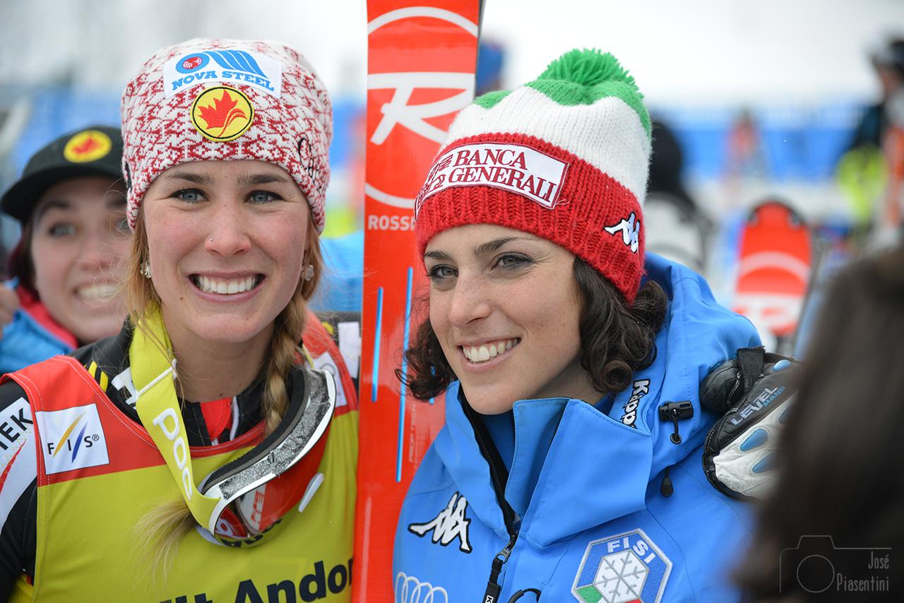 Marie-Michèle Gagnon y Federica Brignone