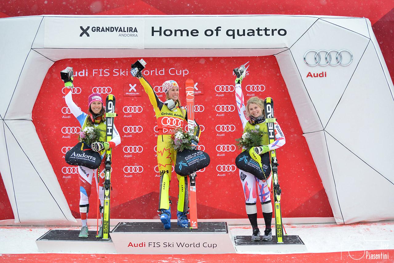 Recordando la copa del mundo esquí femenino en Grandvalira, Andorra