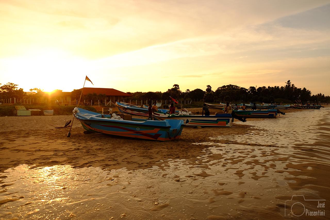 Fisher boat at Uppuveli beach