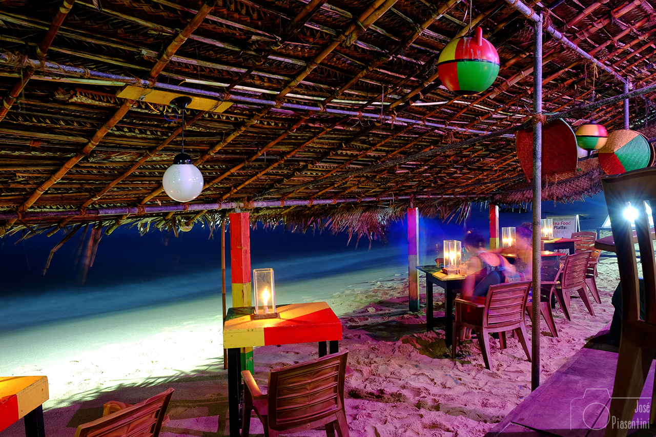 diner on the beach