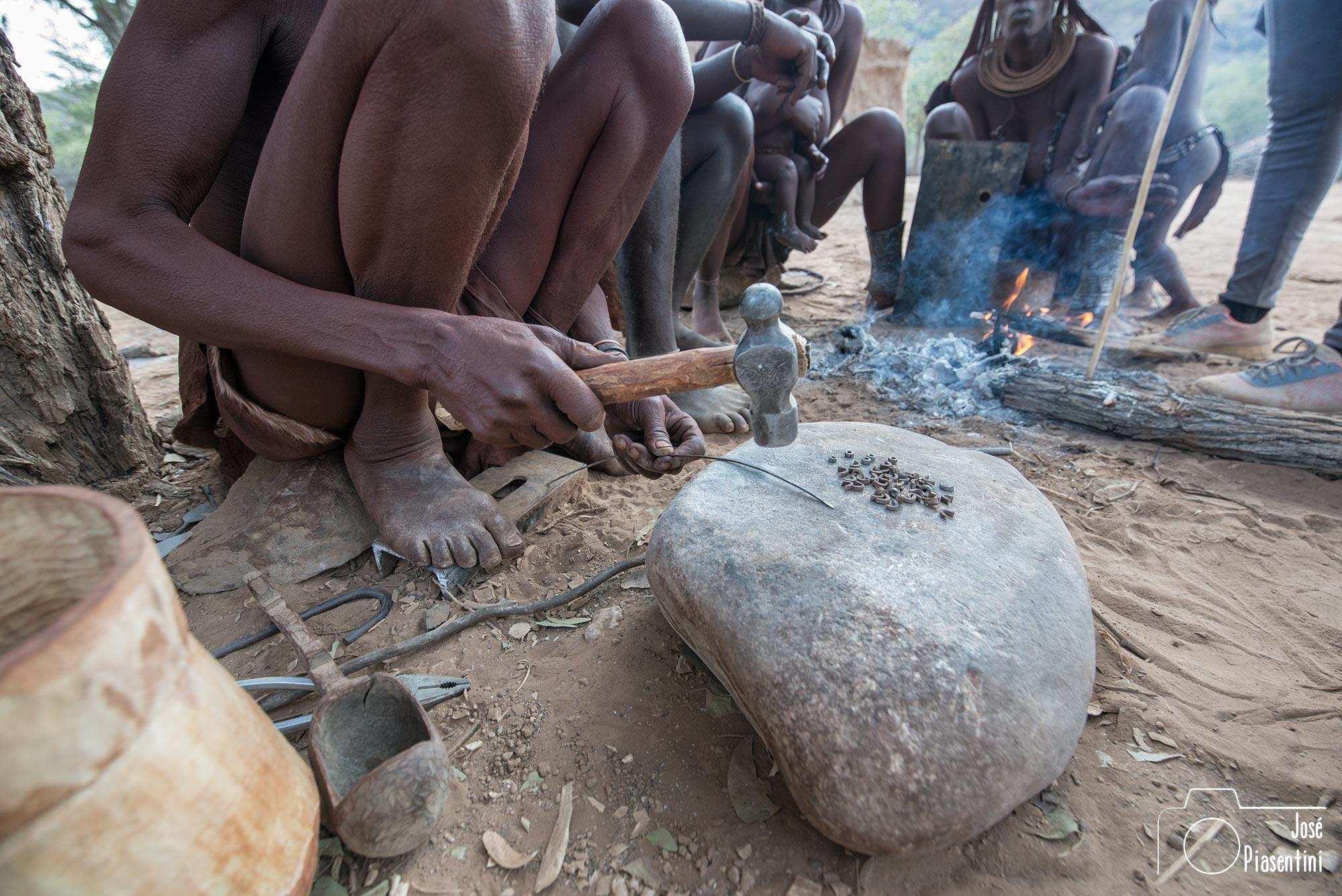 Himba craftsman