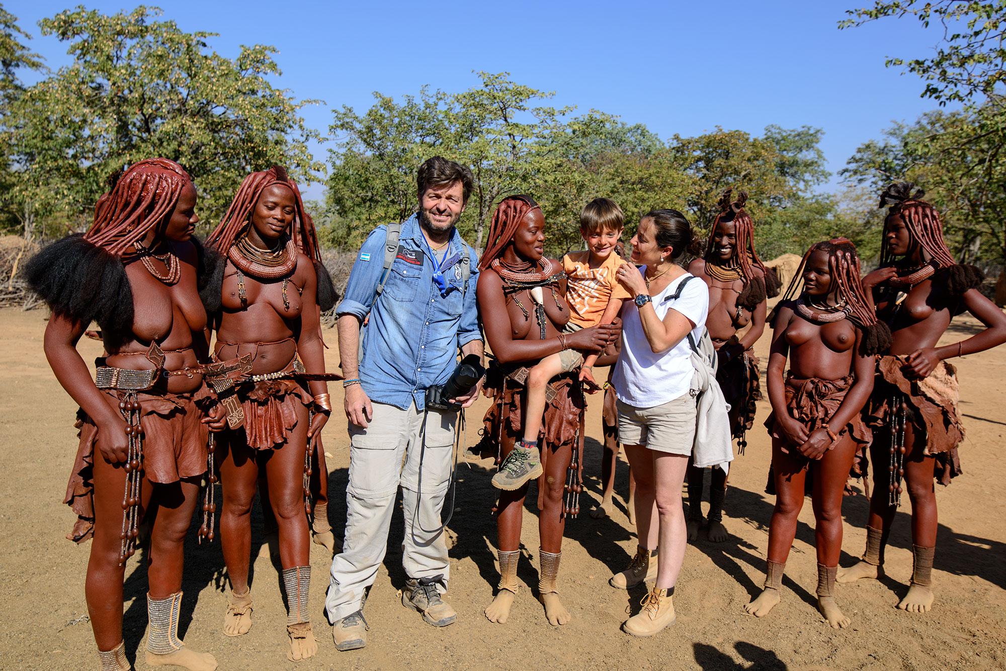 Con los himbas en Namibia