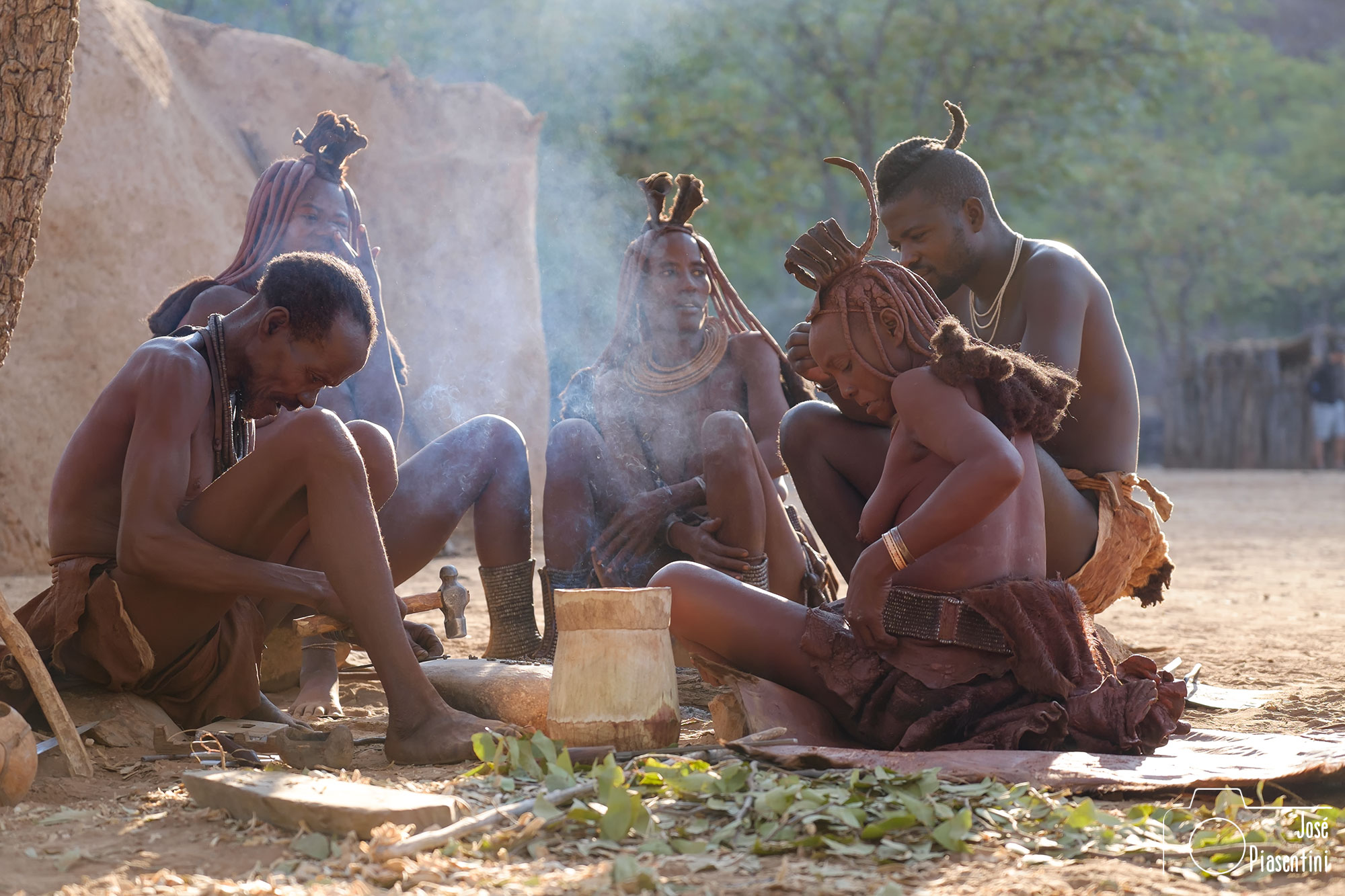 Family Himba Namibia Opuwo
