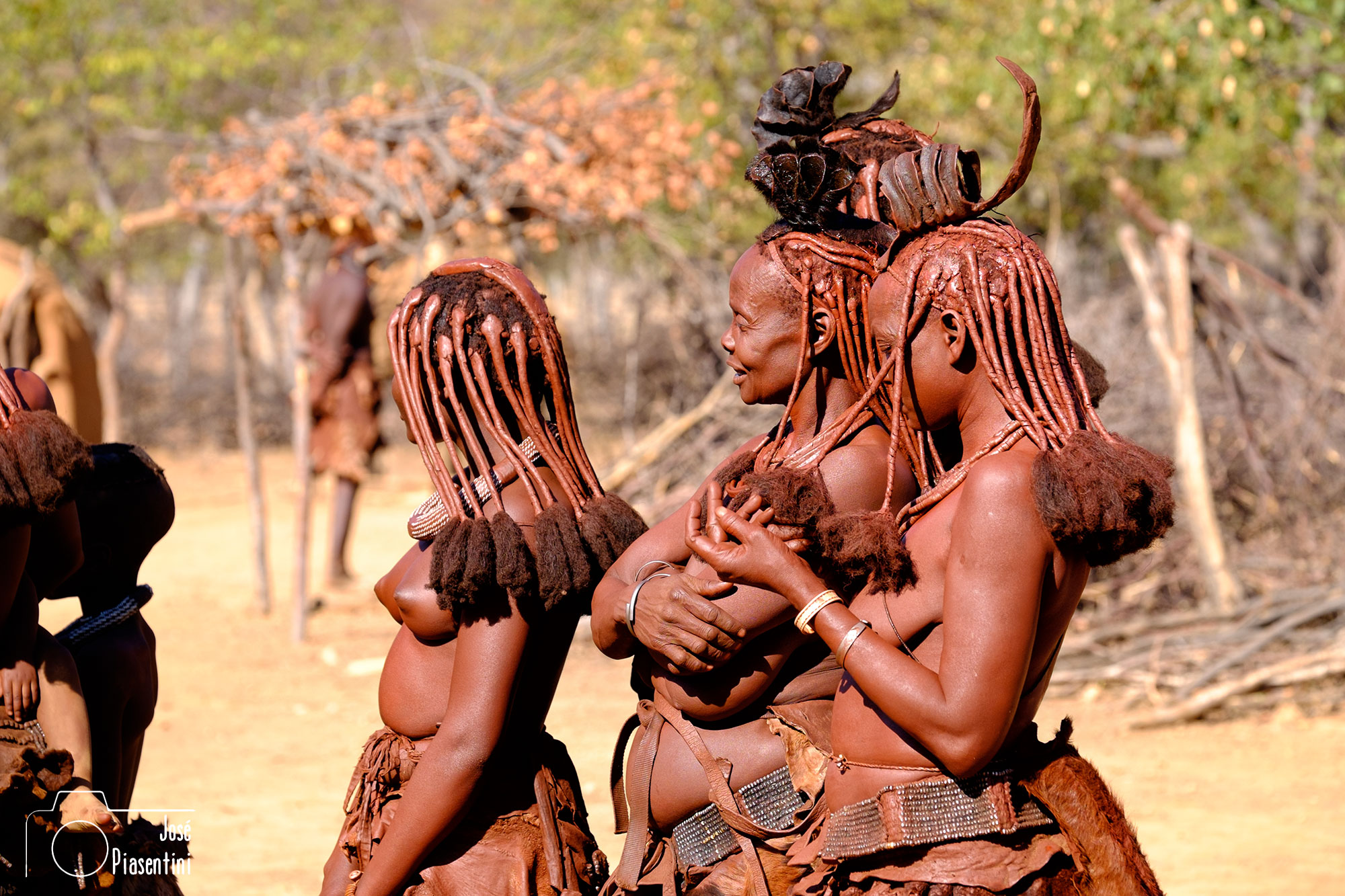 Himba tribal dancing