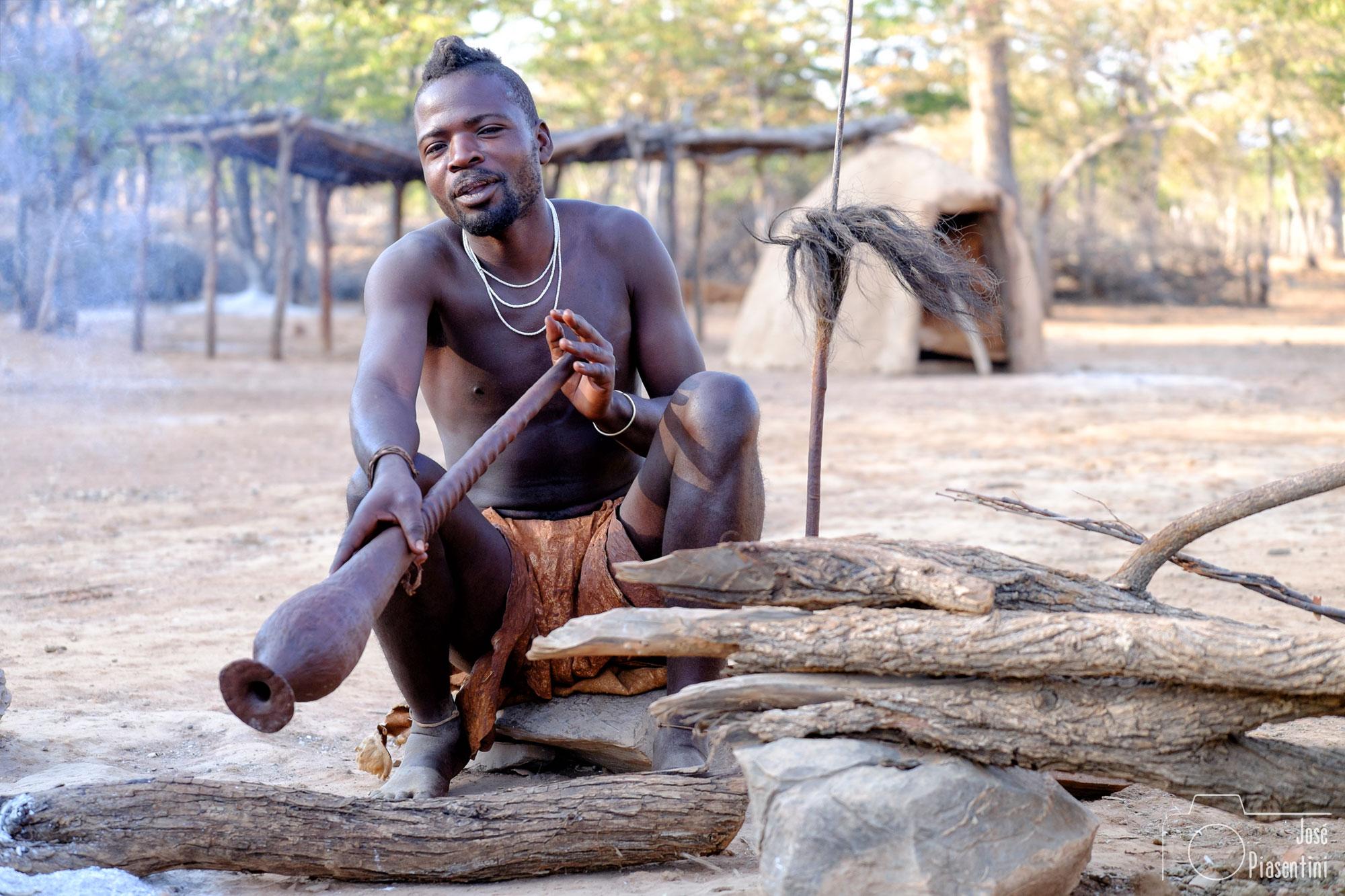 Himba musician