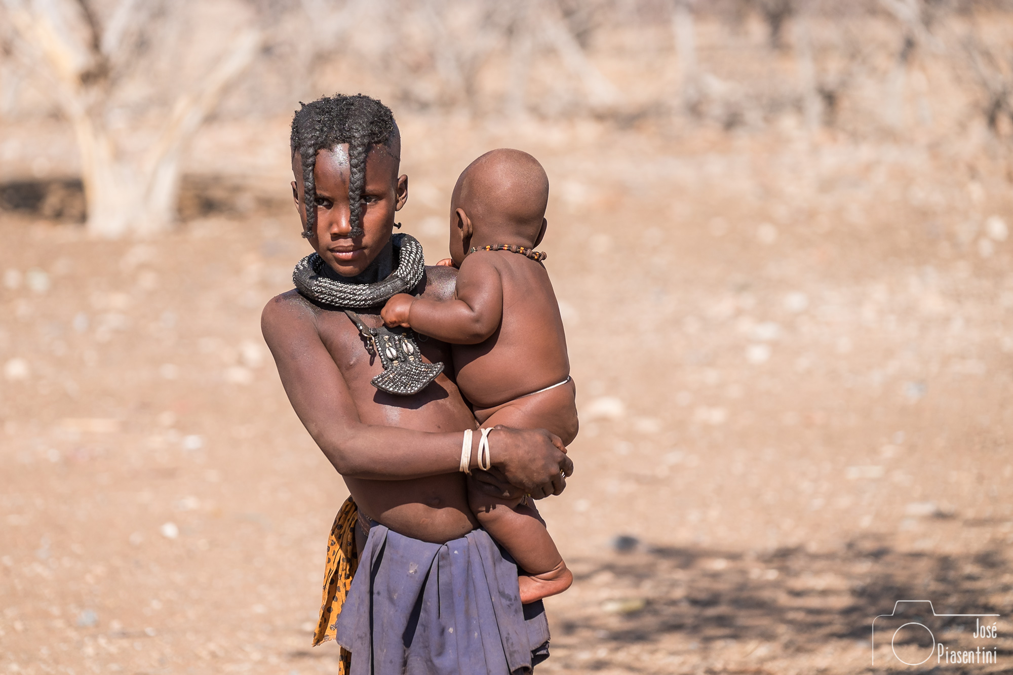 Young and baby Himba