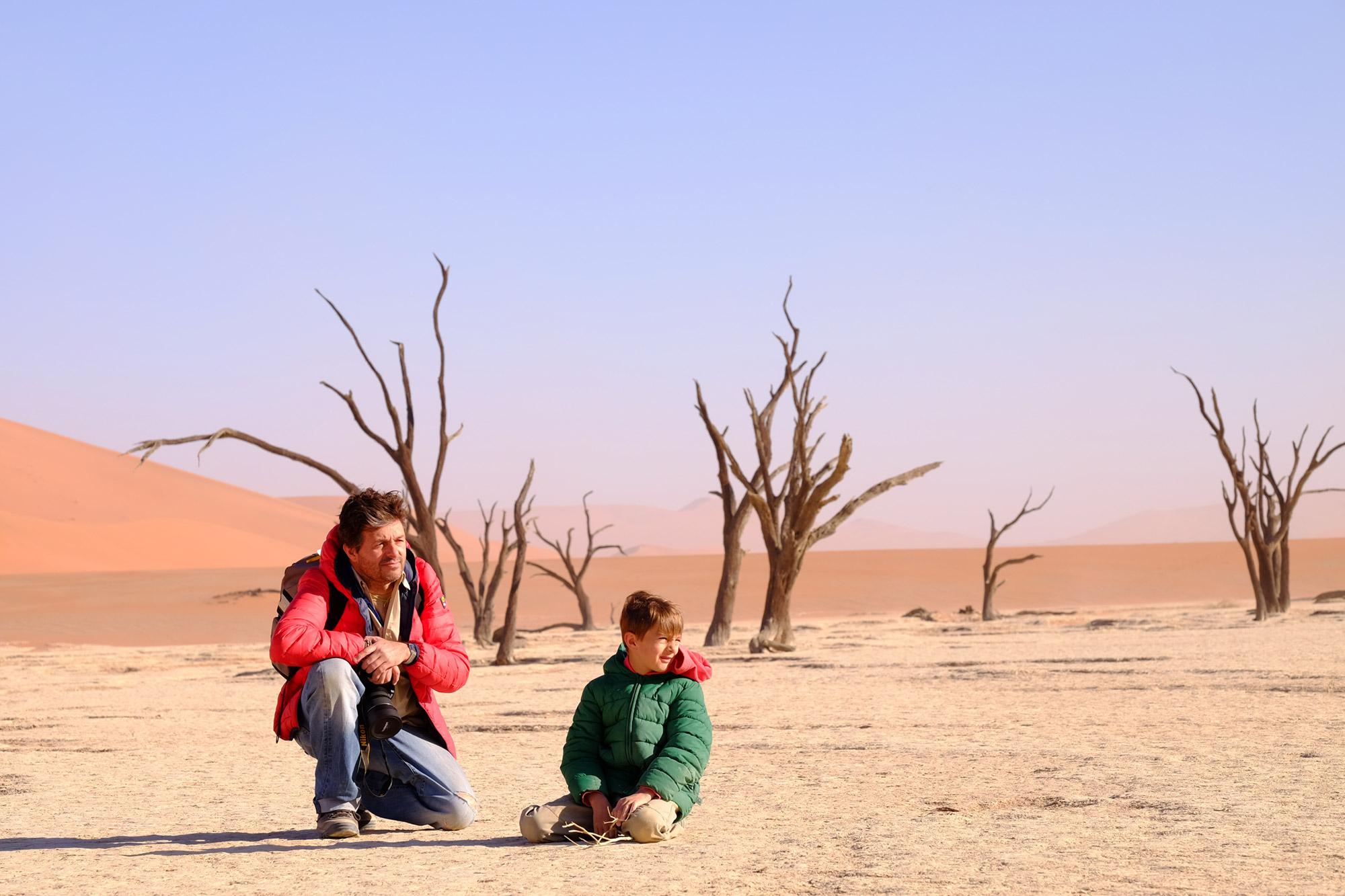 Con Lucca en Deadvlei Namibia
