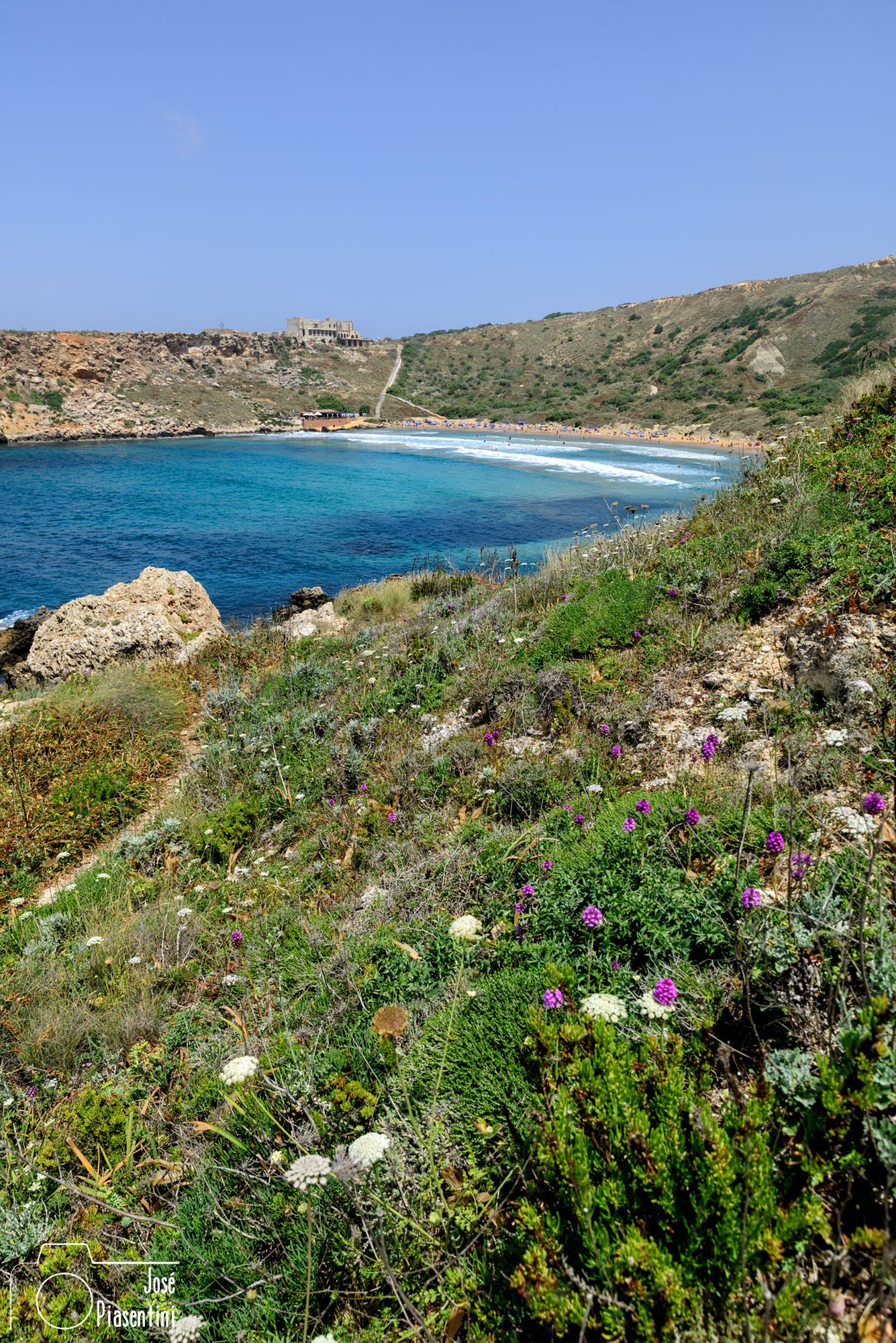 Golden Bay Malta view