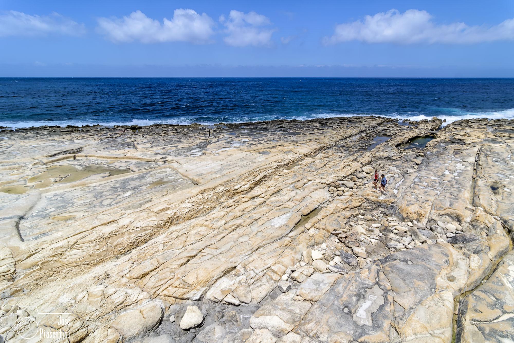 Sliema stone beach Malta