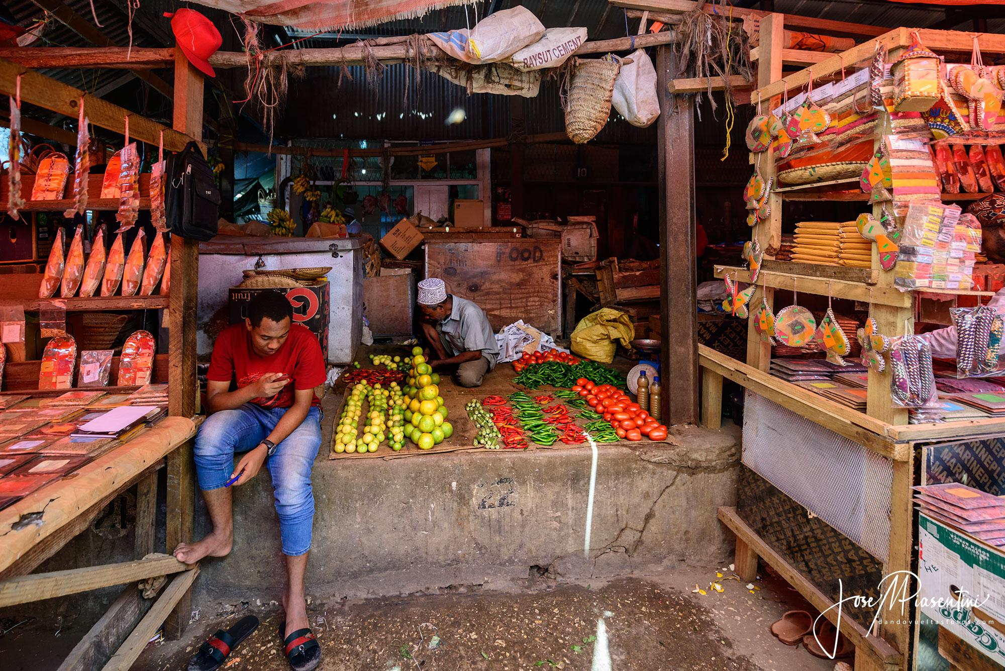 Fruits Darajani Market en Stone Town Zanzibar