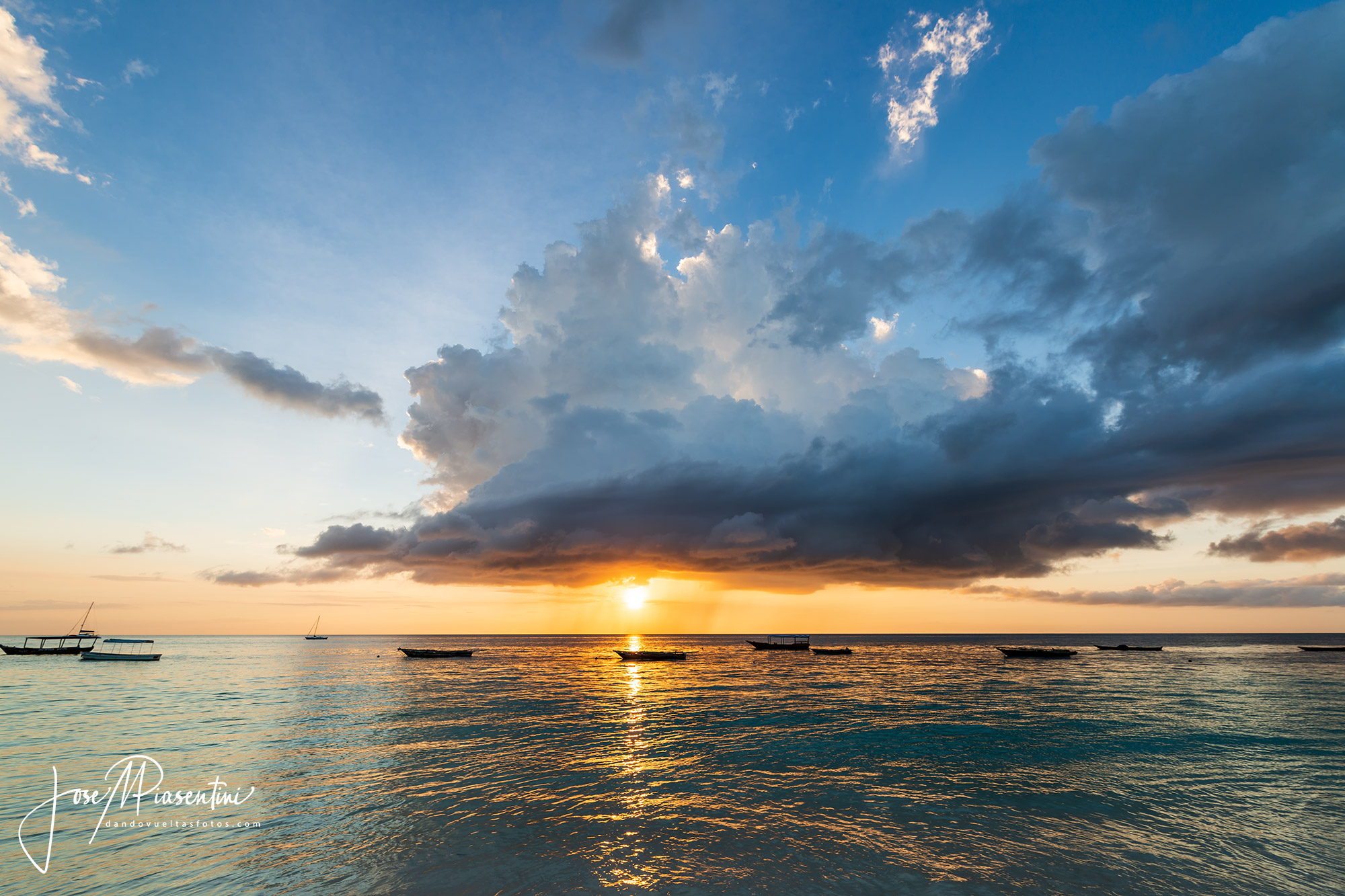 Beautiful sunset in nungwi zanzibar