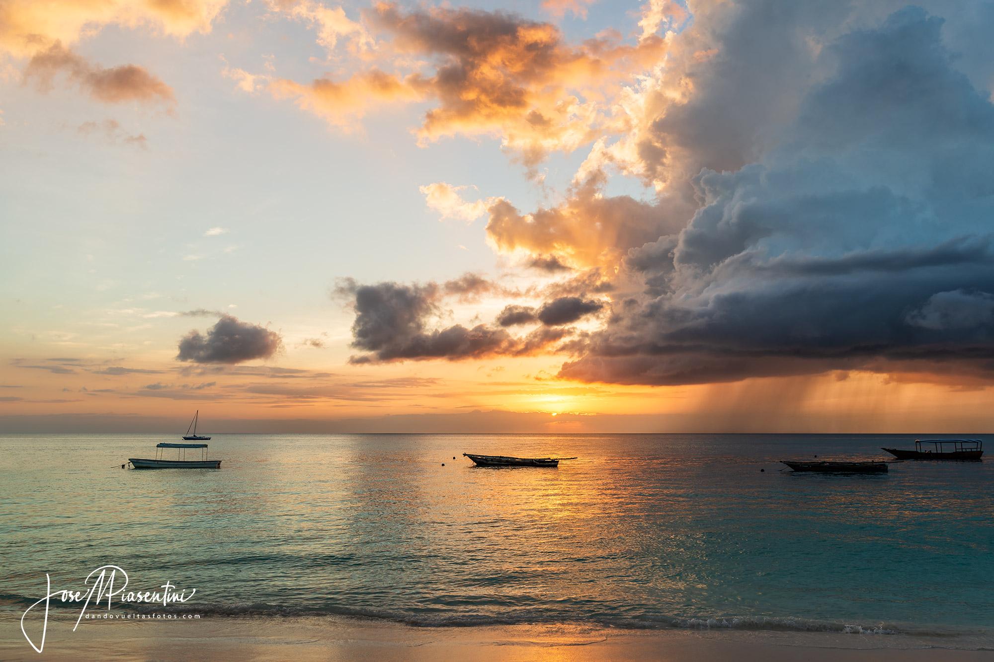 Magical zanzibar sunset
