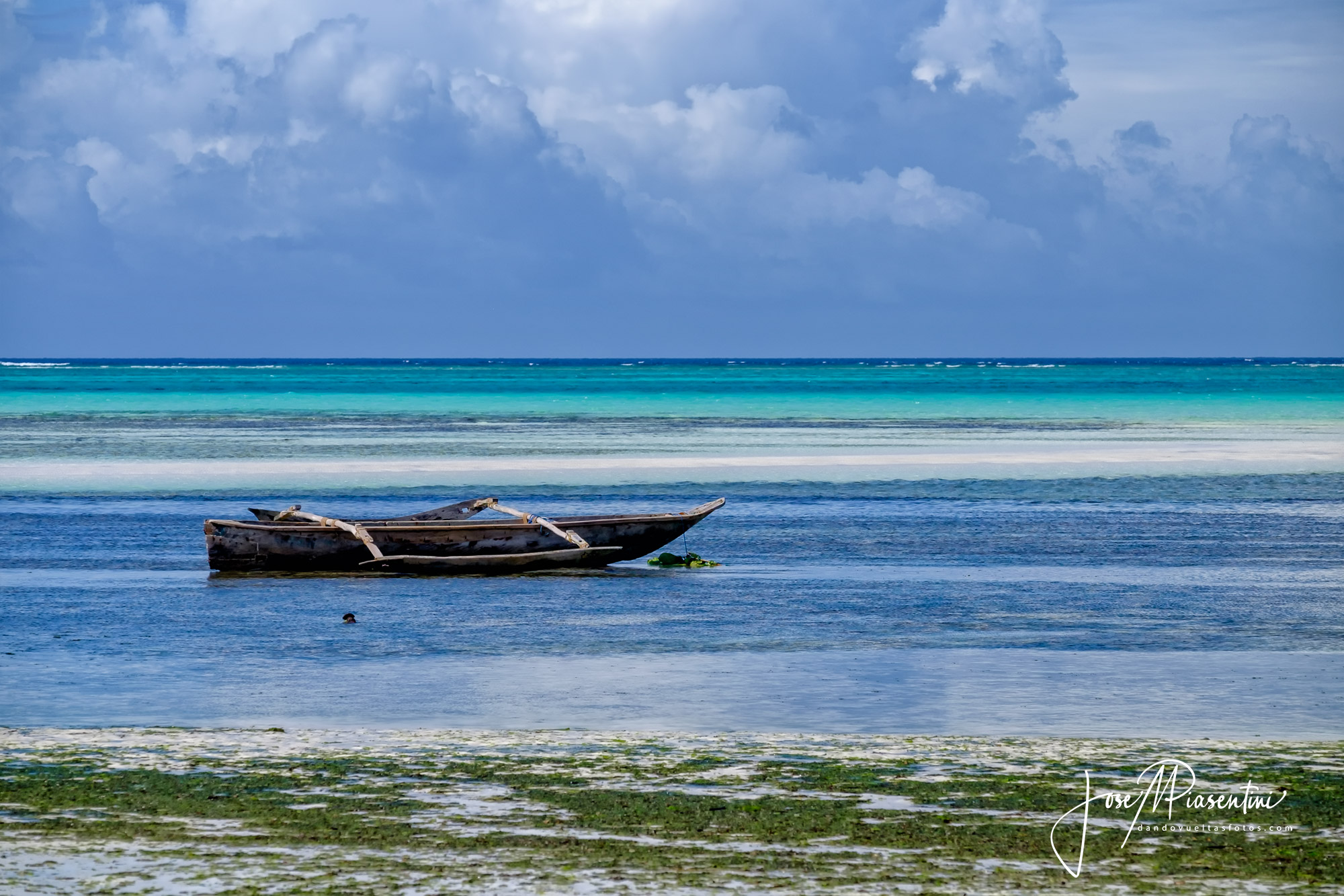 Beach of Pingwe in Zanzibar