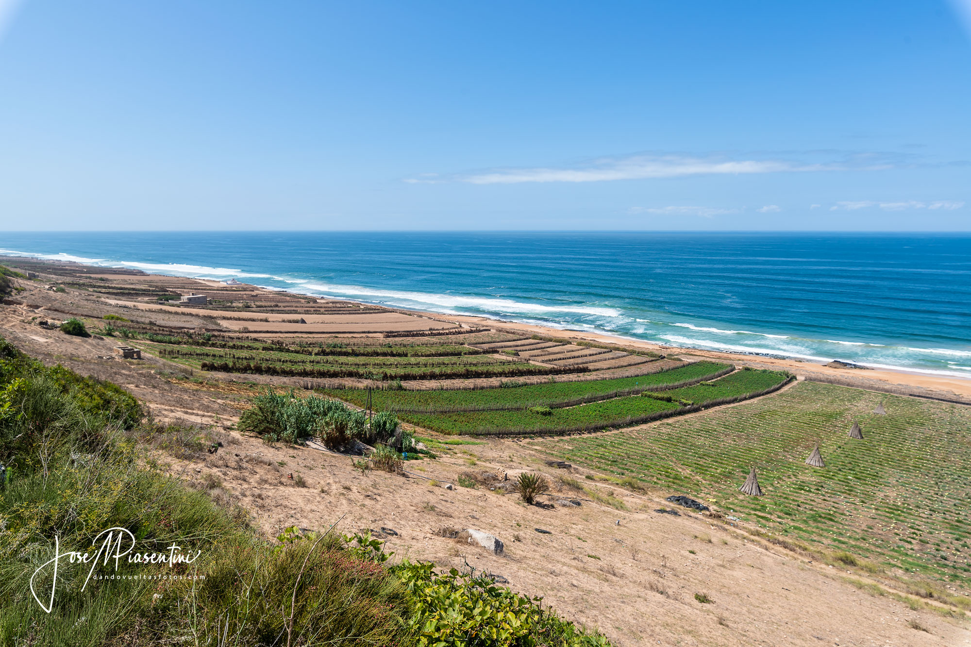 Marruecos terrazas al mar