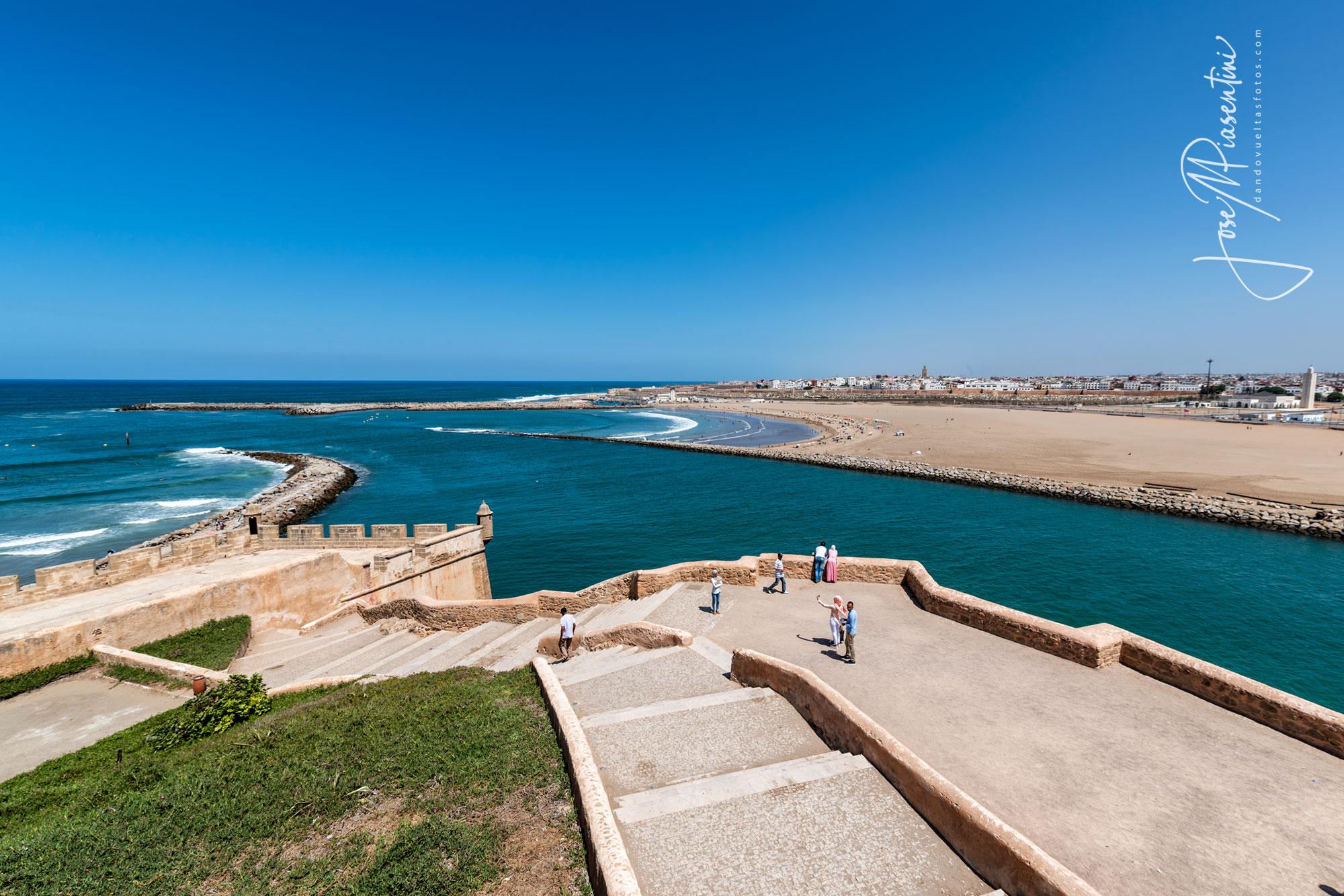 Vista desde Kasbah de los Udayas Rabat