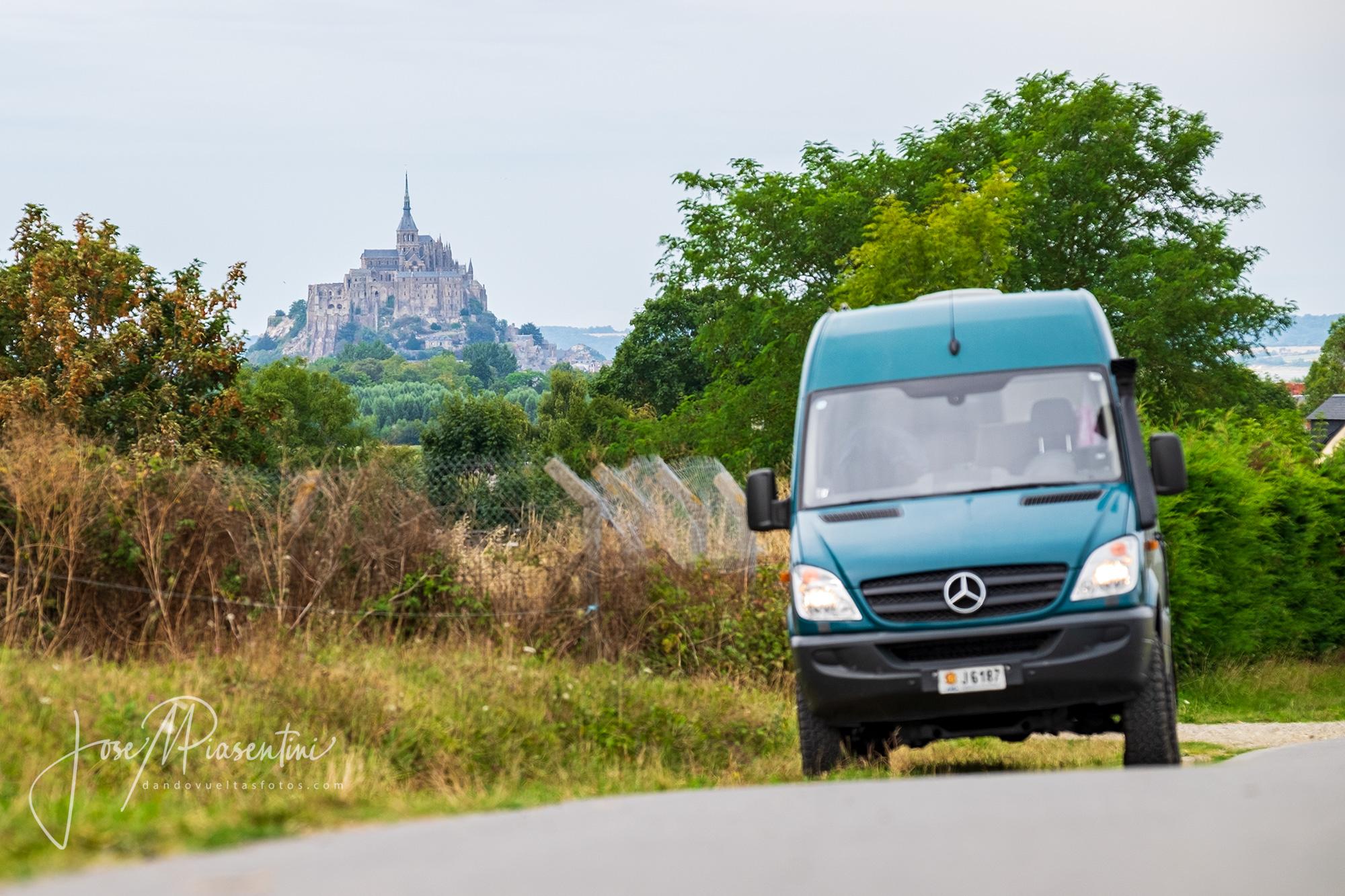 Cómo acceder a Mont Saint Michel en furgoneta