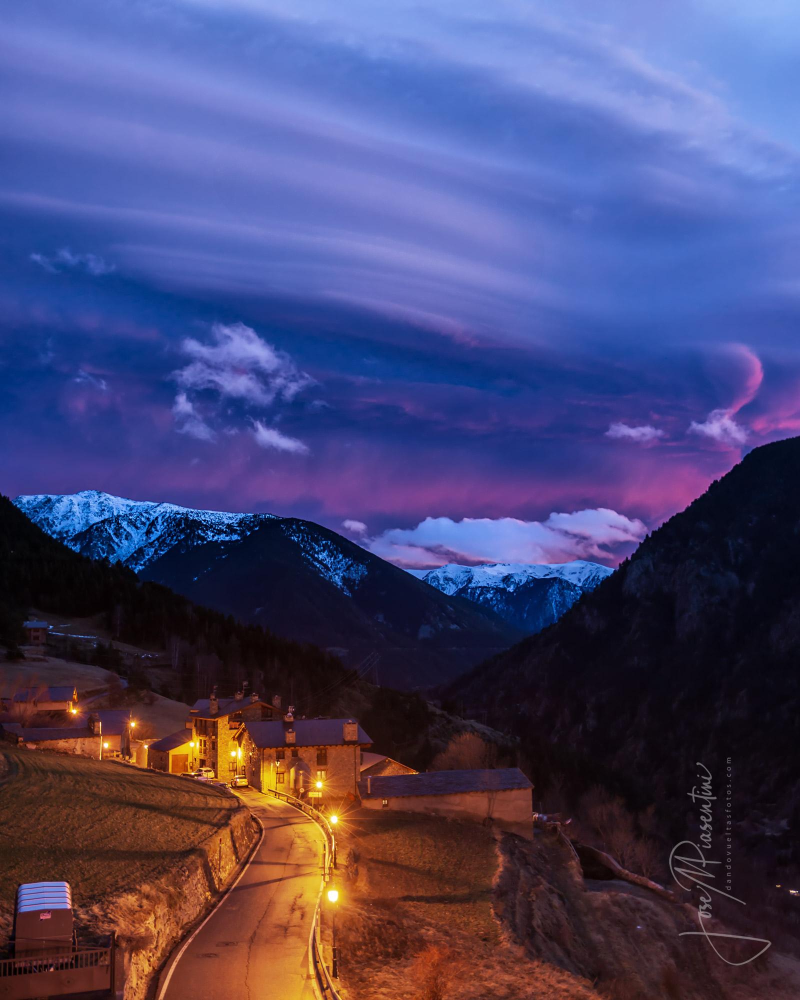 Andorra y sus atardeceres entre montañas