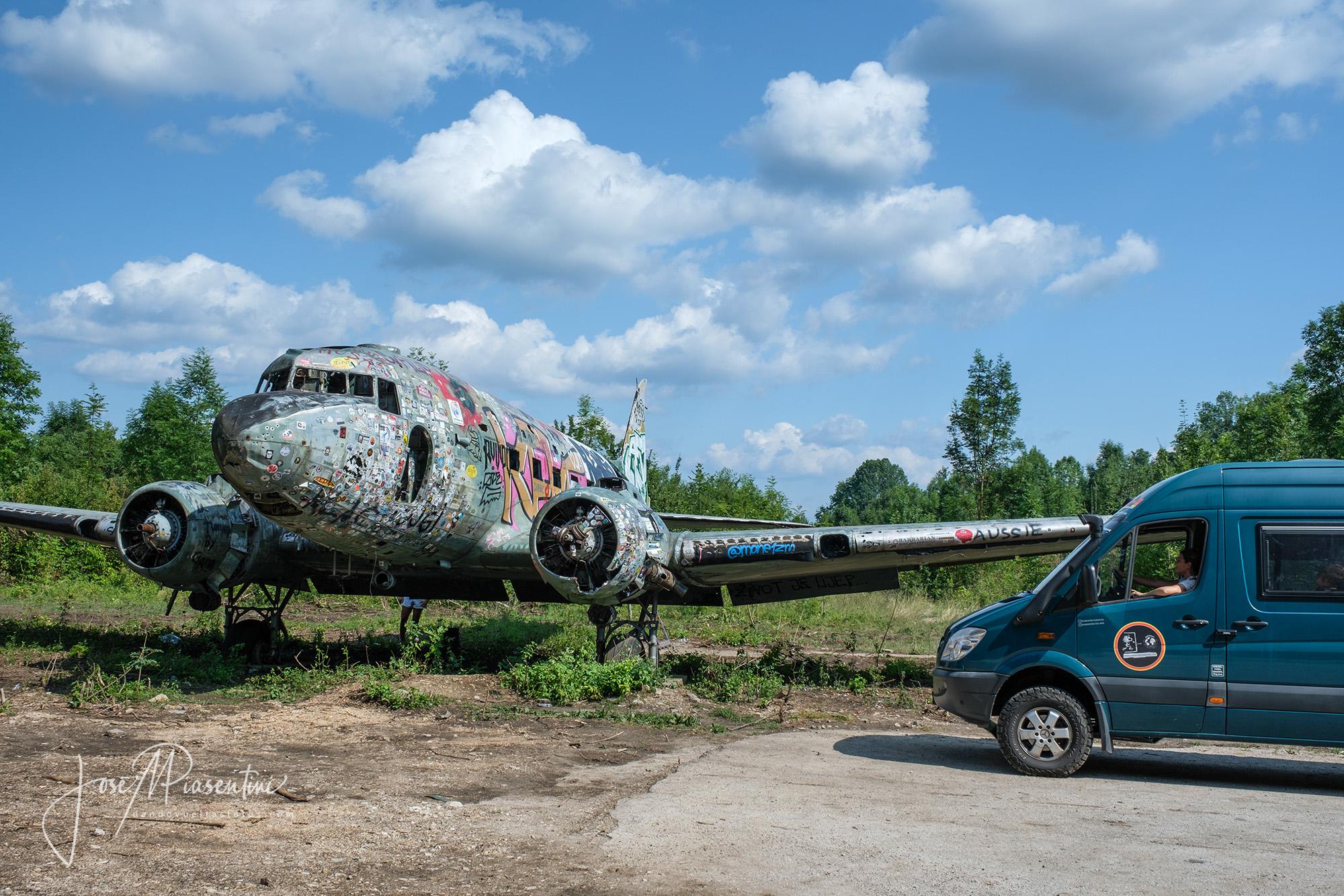 abandoned militar base Zeljava en Croatia